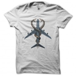 T-shirt snakes on a plane white sublimation