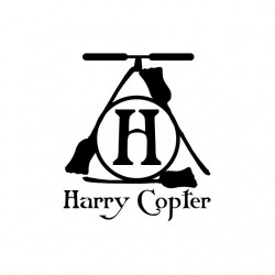 Harry Potter parody Harry Copter white sublimation t-shirt