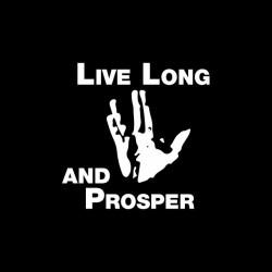 Long Sleeve Star Trek Live t-shirt and black sublimation