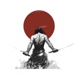 Samurai t-shirt and red sun...