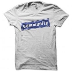 Community t-shirt white...