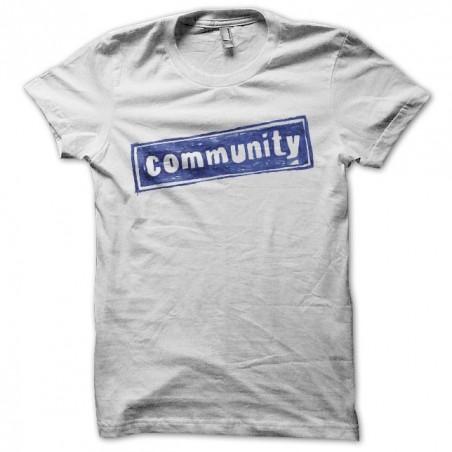 Community t-shirt white sublimation series