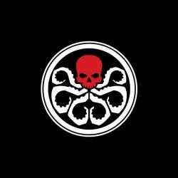 Tee shirt Captain America Hydra symbol  sublimation