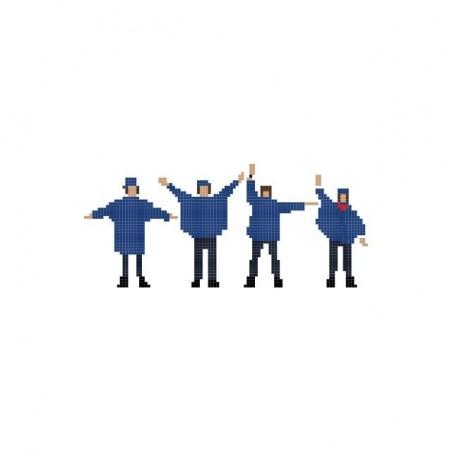 The Beatles Help pixel art white sublimation t-shirt