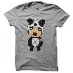 Hitler panda cartoon gray sublimation t-shirt