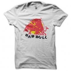 Bad bull parody red bull white sublimation t-shirt