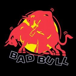 Bad bull parody red bull black sublimation t-shirt