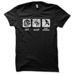 Tee shirt Gamer Eat Sleep &...