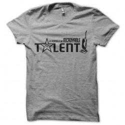 tee shirt Incroyable Talent gris sublimation