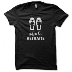 tee shirt la Retraite noir...