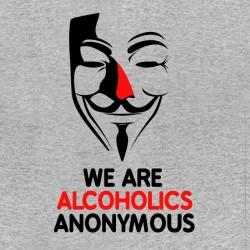 Tee shirt humour alcoolique Alcoholics Anonymous gris chiné sublimation