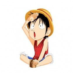 Luffy child tee shirt one piece white sublimation