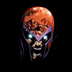 Magneto defense black sublimation t-shirt