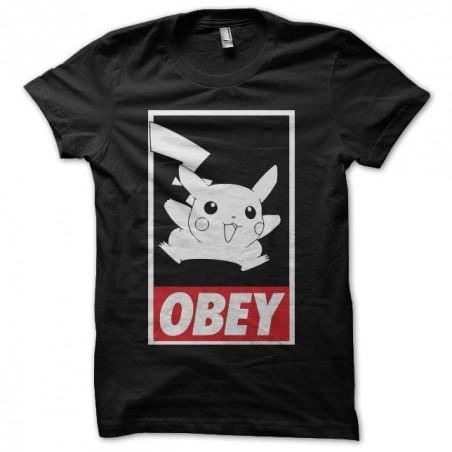 Pikachu parody Obey black sublimation t-shirt