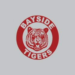 Saved by the gong Bayside Tigers gray sublimation t-shirt