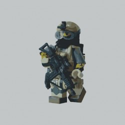 Lego Soldier gray...