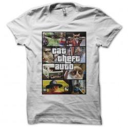 Tee shirt chat parodie cat theft auto GTA  sublimation