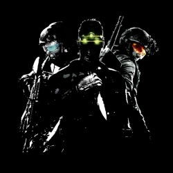 T-shirt Tomclancy Video game black sublimation