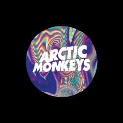Arctic Monkey psychedelic t-shirt black sublimation