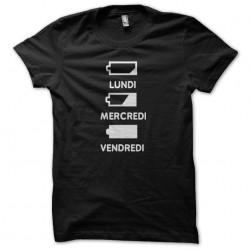 Humorous T-shirt Accus batteries flat black sublimation