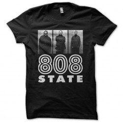 T-shirt 808 State triptych black sublimation