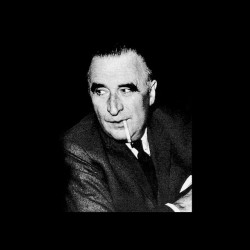 Georges Pompidou black sublimation portrait t-shirt