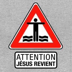 shirt Jesus Reviens gray...