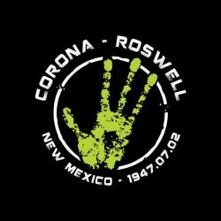 T-shirt Corona Roswell July 2, 1947 black sublimation