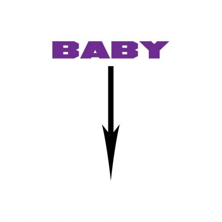 Baby t-shirt arrow notification white sublimation