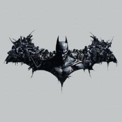 Batman arkham t-shirt originally symbol gray sublimation