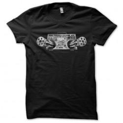 Stereo machine gun black sublimation t-shirt