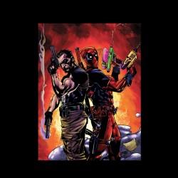 Tee shirt jeu Deadpool & punisher  sublimation