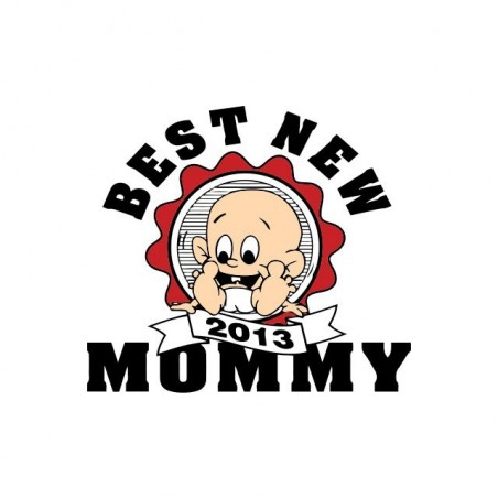 Best New Mommy 2013 white sublimation t-shirt