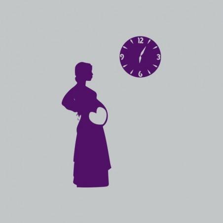 Tee shirt femme enceinte horloge gris sublimation