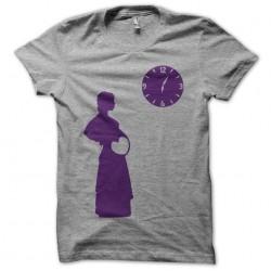 Tee shirt pregnant woman clock gray sublimation