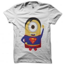Tee Shirt minion parody superman white sublimation