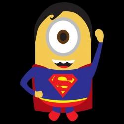 Tee Shirt minion parodie superman  sublimation