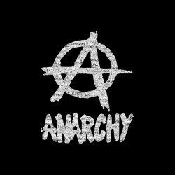 Tee Shirt Anarchy white on black sublimation