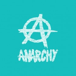 White Anarchy t-shirt on...