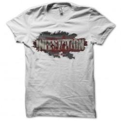Tee Shirt infestation logo white sublimation