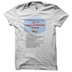 tee shirt commandements corse  sublimation