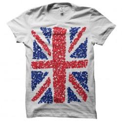 UK Flag Cubes T-Shirt white...
