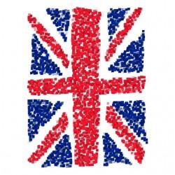 Tee Shirt UK Flag Cubes  sublimation