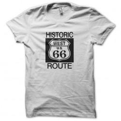 T-shirt road 66 white sublimation