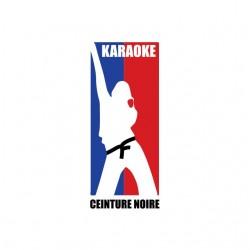 Tee shirt Karaoke ceinture noire parodie NBA  sublimation