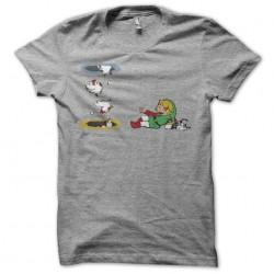 Zelda t-shirt and gray hens...