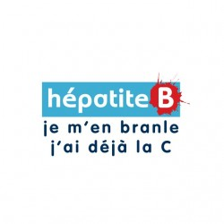 T-shirt hepatitis B I'm...