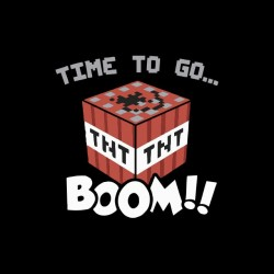 Tee shirt Time to go TNT Boom  sublimation
