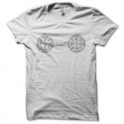 Rosicrucian symbols white sublimation t-shirt
