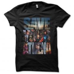 Save your Athena black sublimation t-shirt